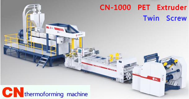 Twin screw PET Plastic Sheet extruder