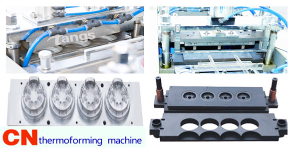 forming mould and cutting mould of lid machine