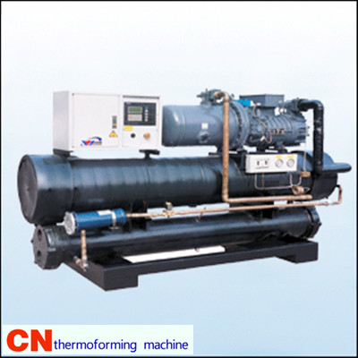 screw type of water cooled industrial chiller