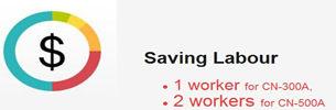 Saving labour of blister machine